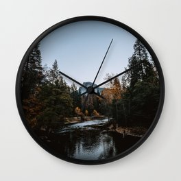 Half Dome from Sentinel Bridge Wall Clock