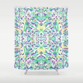 NEO-FRACTLAS Shower Curtain