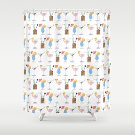 Happy Hour Cocktails Shower Curtain