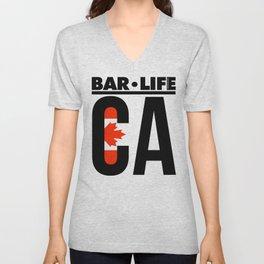 Canada Bar•Life Unisex V-Neck
