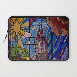 ROMANCE BEAUTY AND THE BEAST Castle Stained Glass Laptop Sleeve