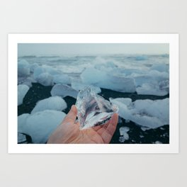 ice from iceland Art Print