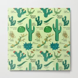 Native Desert Plants Metal Print