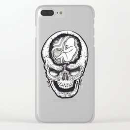 FETUS SKULL Clear iPhone Case