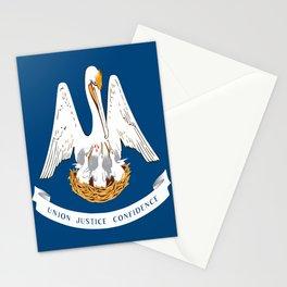 Flag of Louisiana -Louisianian,south, jazz,blues,french, new orleans, baton rouge,usa,america,us Stationery Cards