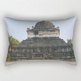 Buddhist temple Wat Visun, Luang Prabang, Laos Rectangular Pillow
