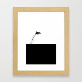 Fish Jump Framed Art Print