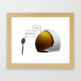 Spoon. Spacehead. Framed Art Print