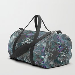 Forest first frost floral camouflage Duffle Bag