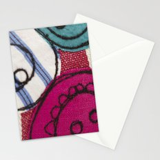 Embroidered Buttons Pink Stationery Cards