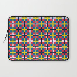 Mix of flag: norway and sweden Laptop Sleeve