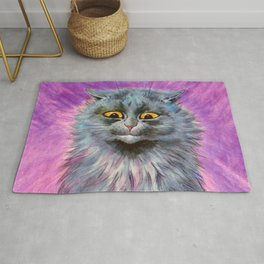 Russian Blue Cat - Louis Wain Cats Rug