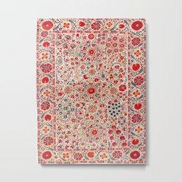 Bokhara Suzani Southwest Uzbekistan Embroidery Metal Print