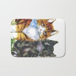 Vintage Kittens Bath Mat