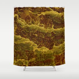 Golden nature pattern Shower Curtain