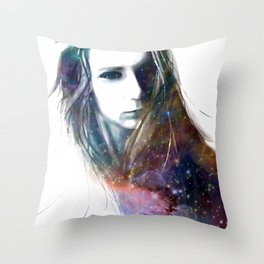 hairy stars Throw Pillow