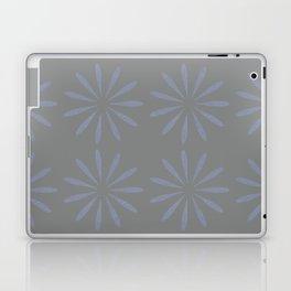Blue Grey Floral Pattern Laptop & iPad Skin