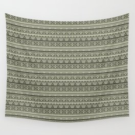 Grey , brown , ethnic , ornament , tribal , ethnic Wall Tapestry