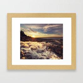 Streaming into the Sunset Framed Art Print