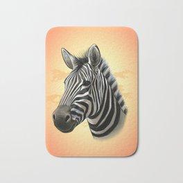 African Zebra Bath Mat