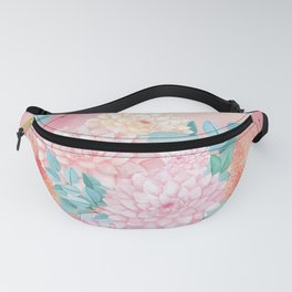 Gold dahlia bouquet #society6 Fanny Pack