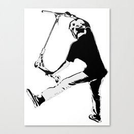 Deck Grabbing - Stunt Scooter Trick Canvas Print