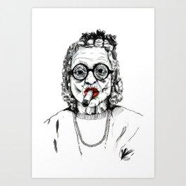Woman with Cigar Art Print
