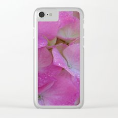 Raindrops on Hydrangeas Clear iPhone Case