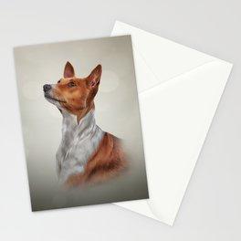 Drawing dog breed Basenji Stationery Cards