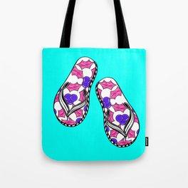Aussie Christmas Card Set Pink & Aqua Design#6 Flip Flops Thongs Tote Bag