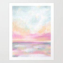 Peace, Love & Joy - Tropical Ocean Seascape Art Print