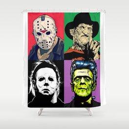 Horror Pop Art Shower Curtain