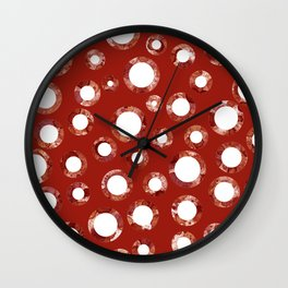 Wine Stain Pattern Wall Clock