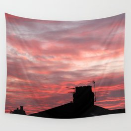 Winter sunset over London Wall Tapestry