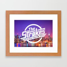 The Strokes Logo New York Night Framed Art Print