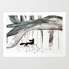 The Big Bad Wolf Art Print