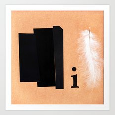 Shades of black Art Print