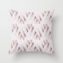 Abstract geometric pattern.Pinkish beige striped triangles . Throw Pillow