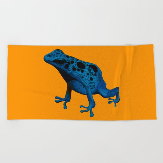 Blue Frog Beach Towel