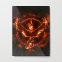 Team Valor - Moltres Metal Print