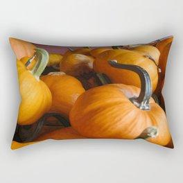 Vector Style Harvest Of Pumpkins Rectangular Pillow