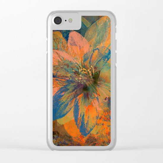 Floral abstract(43) Clear iPhone Case