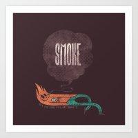 smoke Art Prints featuring Smoke! by Hector Mansilla