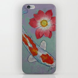 Koi and Lotus iPhone Skin