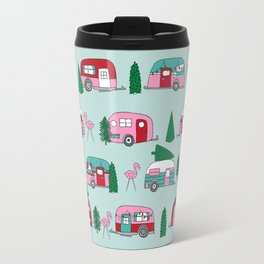 Camper vacation christmas road trip tropical home away from home pattern Travel Mug