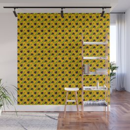 Yellow Abstract pattern Wall Mural
