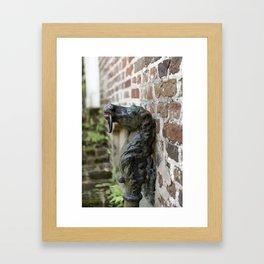 Charleston Hitching Post Framed Art Print
