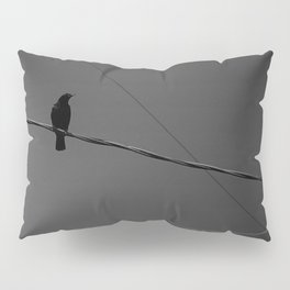 Crow on a Wire Pillow Sham