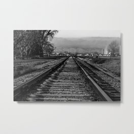 Wrong Side of the Tracks Metal Print