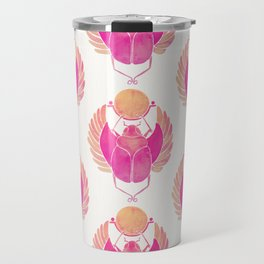 Egyptian Scarab – Pink Ombré Travel Mug